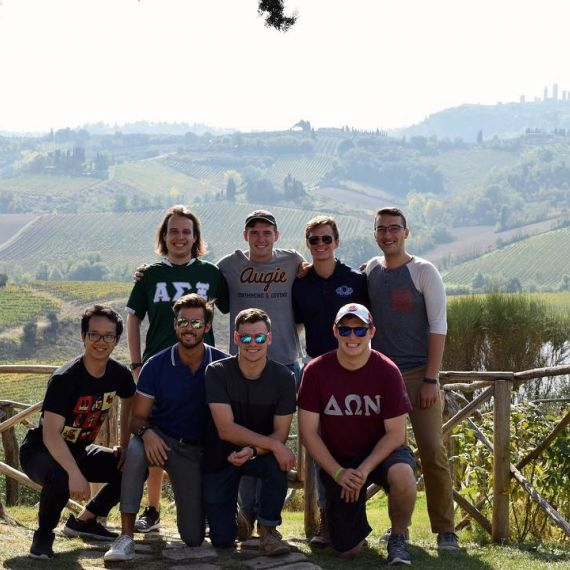 Students studying abroad in Siena