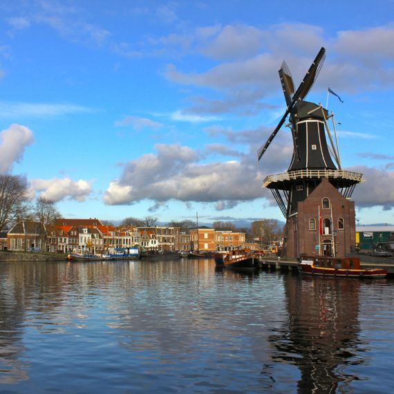 a windmill in the Netherlands