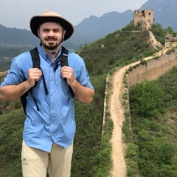 Jeremy marks at the great wall of China