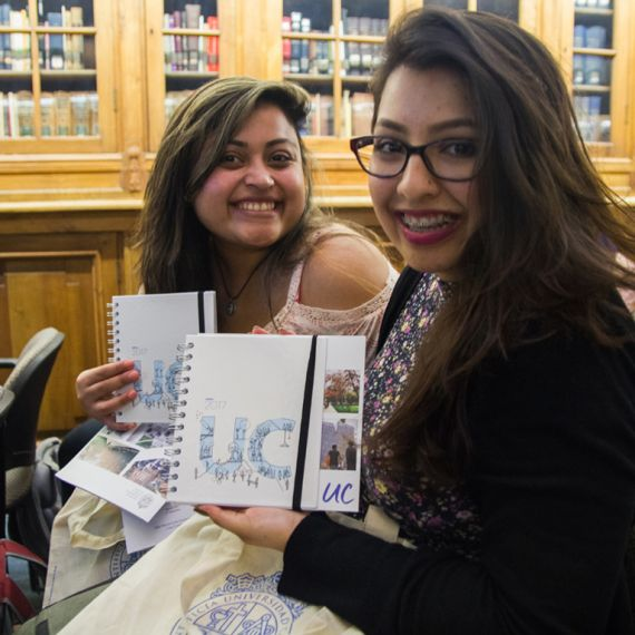 two Spanish study abroad students in Santiago, Chile