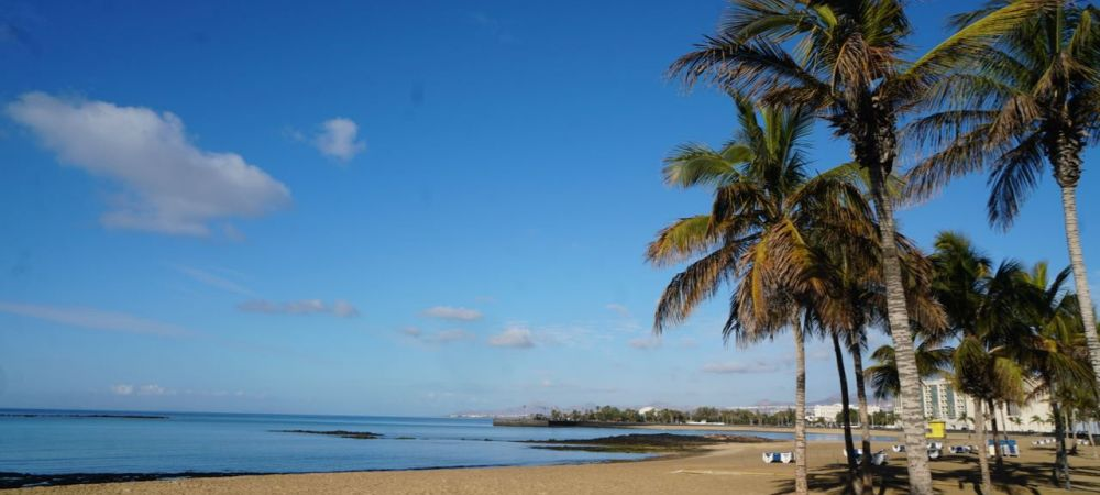Playa Reducto in Arrecife, Lanzarote.