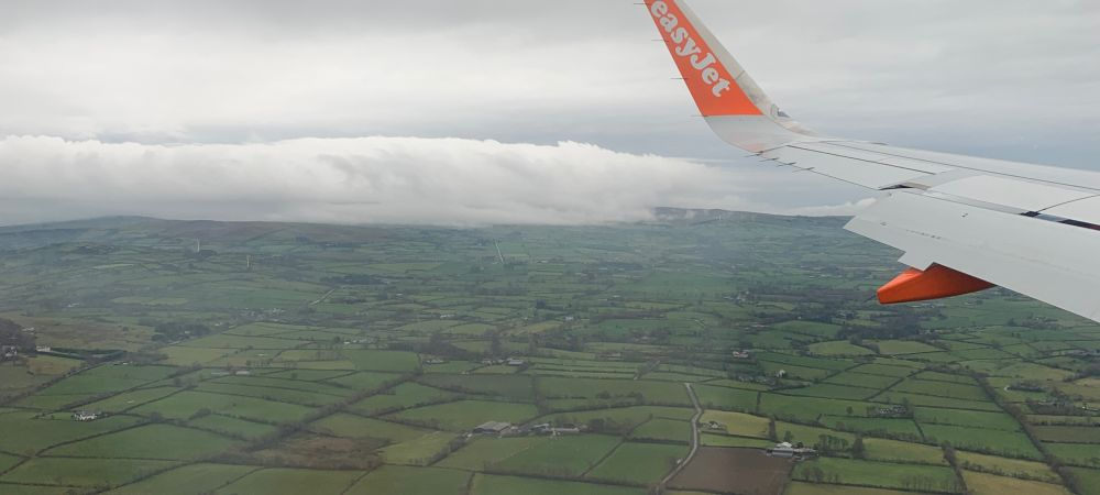 Flying over the planes of Ireland