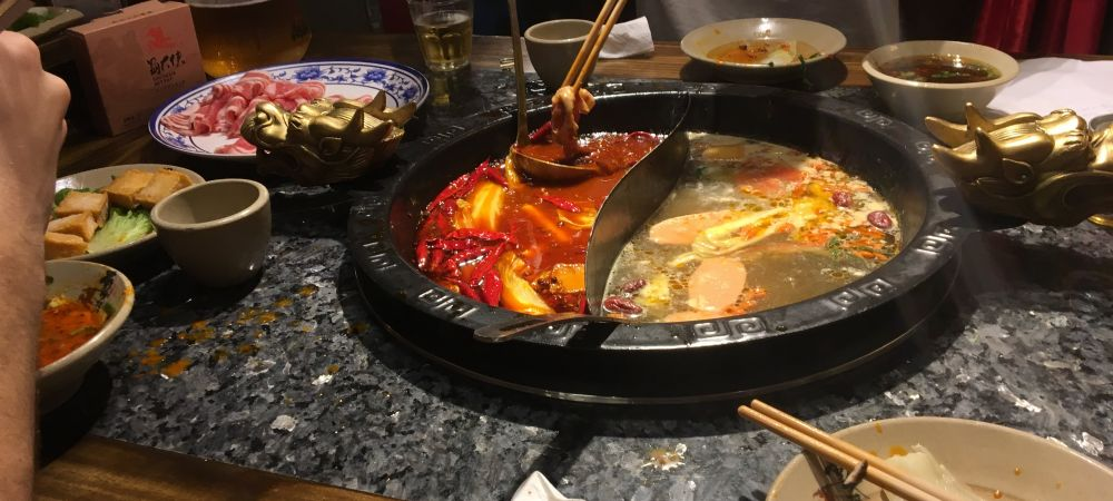 Hot Pot(火锅) in Downtown Shanghai