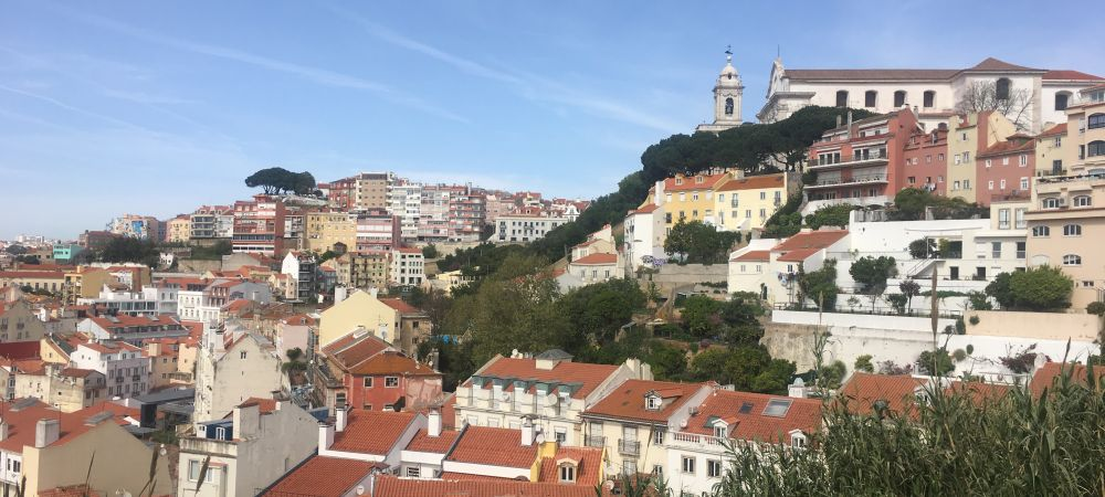 Lisbon seen from a hillside