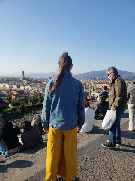 In awe of the city views from Piazzale Michaelangelo in Florence