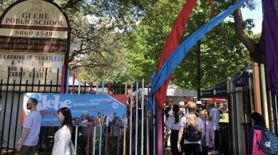Entrance to my favourite of all markets, the Glebe Market