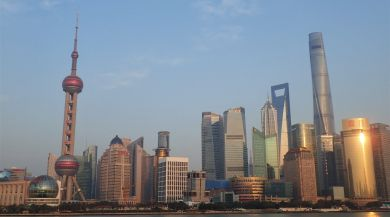 The Shanghai Skyline during the Golden Hour