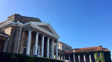 View of Jammie Plaza on the UCT campus