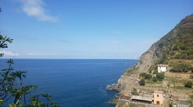 Hidden view of paradise in Cinque Terre