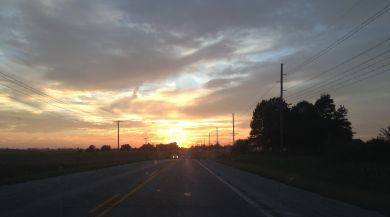 A sunset in the lovely Grinnell, Iowa