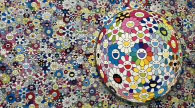 Takashi Murakami artwork at the Louis Vuitton Foundation in Paris