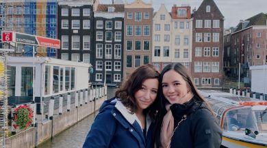 Two students in Amsterdam