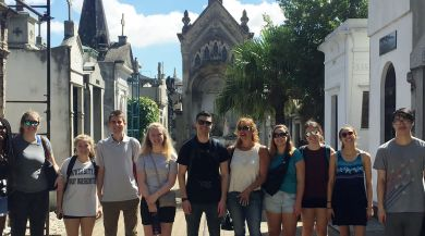 Buenos Aires study abroad students