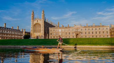 scenic photo of cambridge on a sunny day