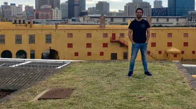 Intern in Cape Town with Cityscape in Background