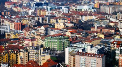 Milan Aerial City View