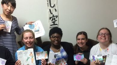 Nagoya study abroad students and their work