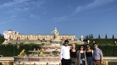 Paris Summer Interns in front of Palace of Versailles