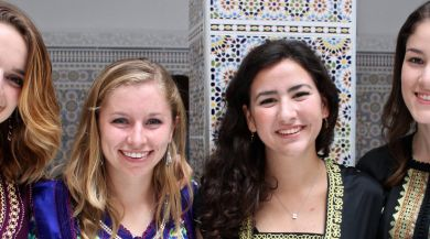 Group of students in Moroccan clothing