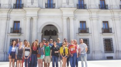 Students in Plaza Mayor, Salamanca
