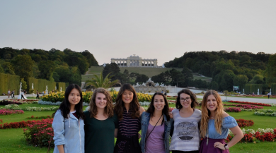 Group of study abroad students in vienna
