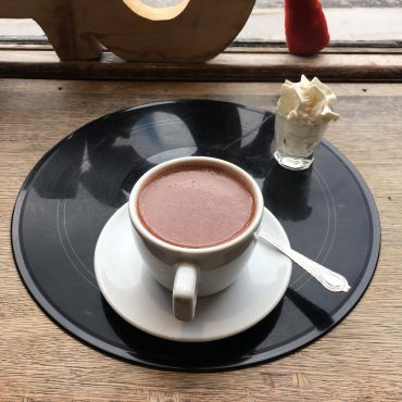 An Italian hot chocolate from Coffee To Get Her at the Bernard Shaw.