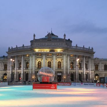 Burgtheater from the ice rinks