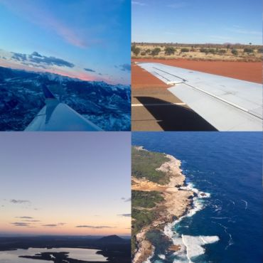 Various Views From Plane Windows