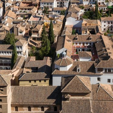 Photo of Tiled Roofs in Albayzin neighborhood in Granada.