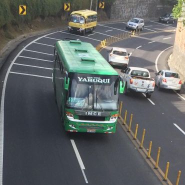 A bus in Quito.