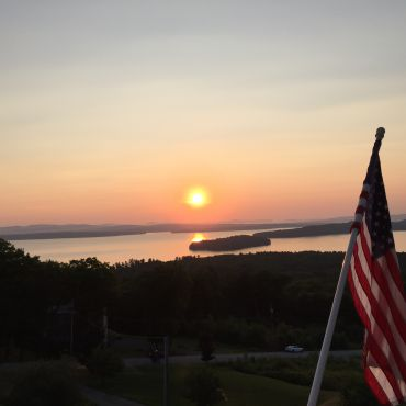 View from my deck in Gilford, NH, overlooking Lake Winnipesaukee