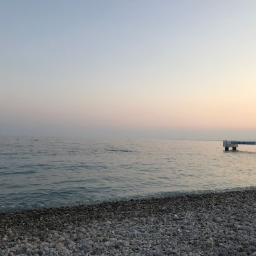 Sunset At The Beach In Nice