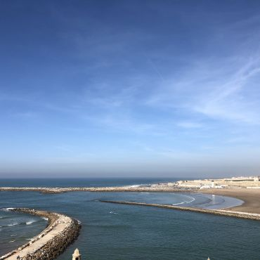 A view of the Atlantic Ocean from Rabat