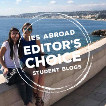 My IES Abroad roommate and I on a trip to Nice, France. with editor's choice logo