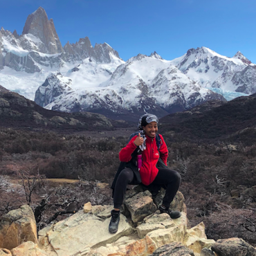Student Hiking While Studying Abroad in Argentina