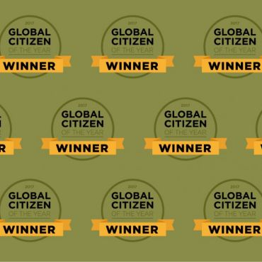 Repeating Global Citizen of the Year logo