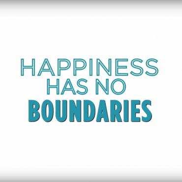 teal text happiness has no boundaries on white background