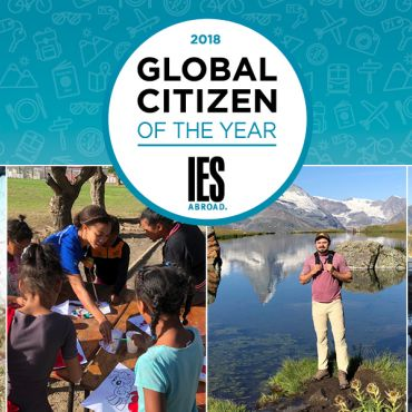 global citizen of the year logo with images of winner and finalists