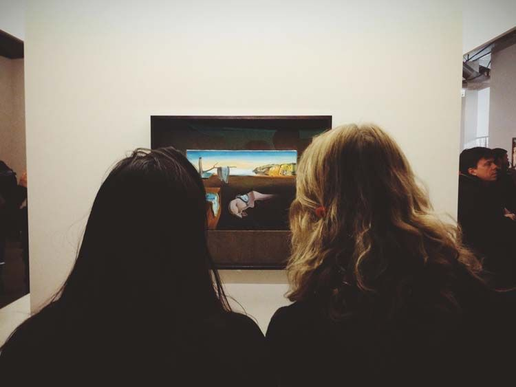 Viewing Salvador Dali painting in Madrid