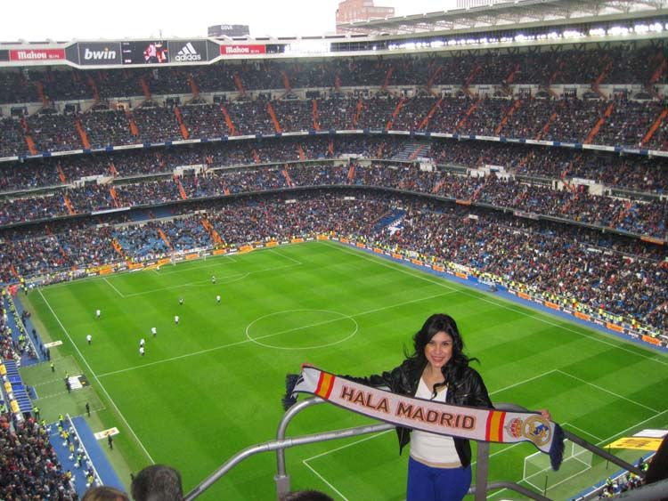 At a Madrid futbol game