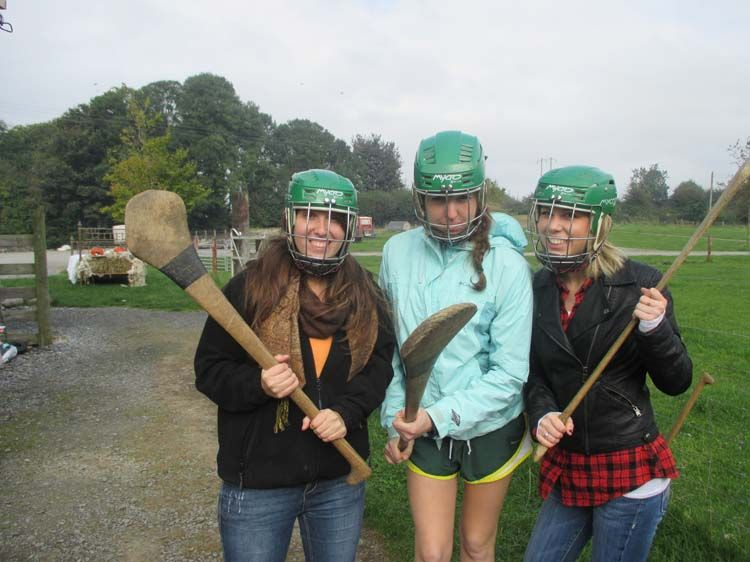 Students playing sports in Dublin