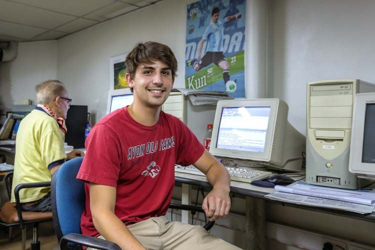 Student in the computer lab