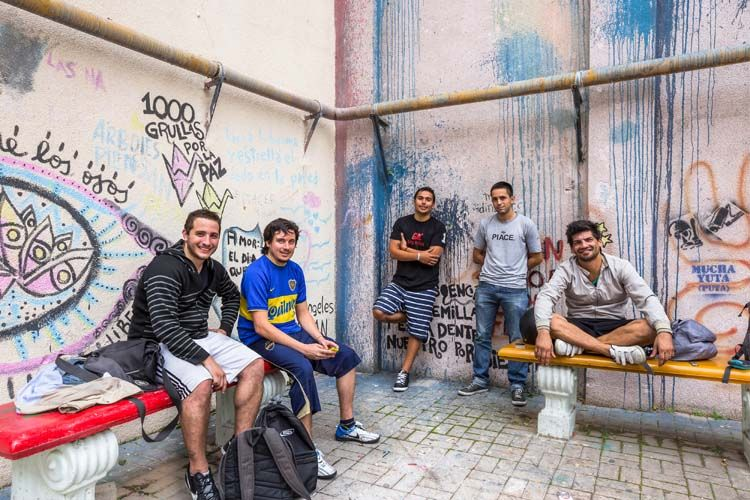Students hanging out in Buenos Aires