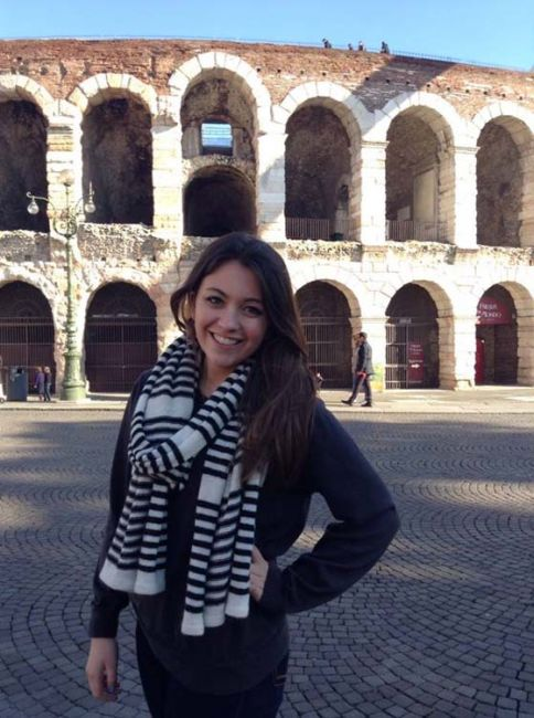 Student by the Colosseum