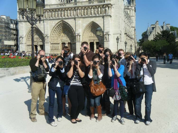 Students by Notre Dame