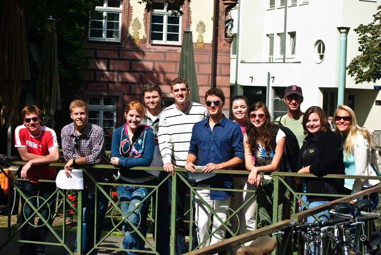 IES students in Freiburg