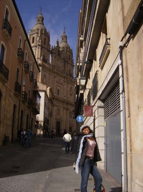 Student in the streets of Salamanca