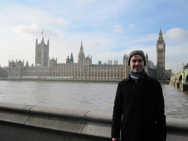 London student and Big Ben