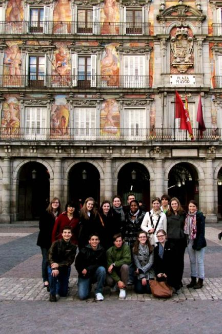 Madrid student group photo