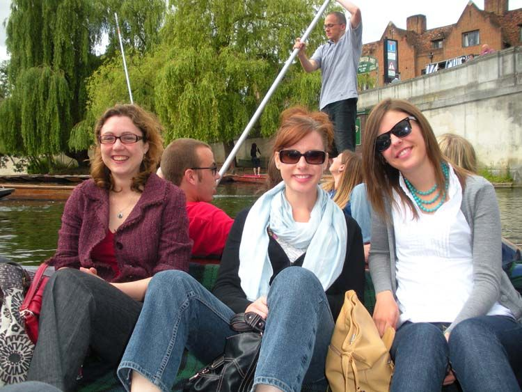 London students on the river Thames